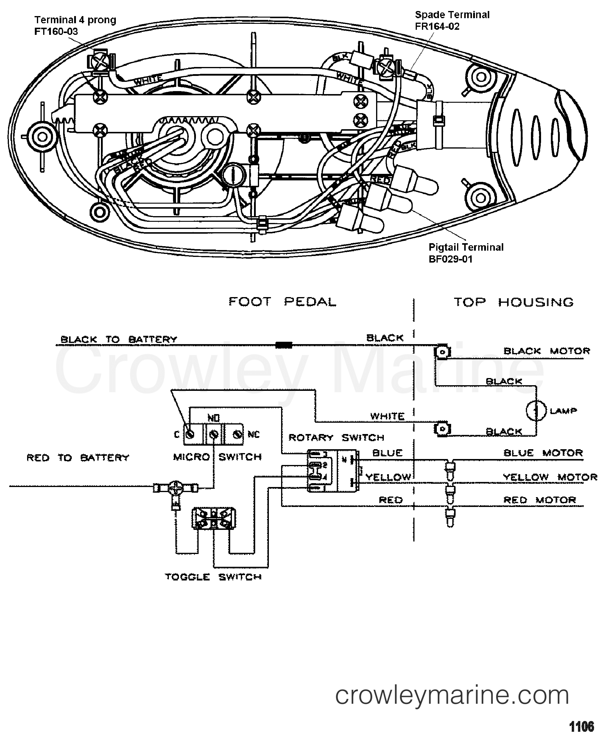 2000 MotorGuide 12V [MOTORGUIDE] - 9EF54VFW1 WIRE DIAGRAM(MODEL EF67) (24 VOLT) section