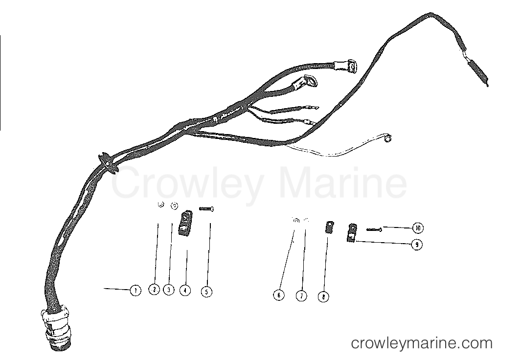50 mercury wiring harness diagram wiring harness all years mark outboard mark 50  50e all models  wiring harness all years mark