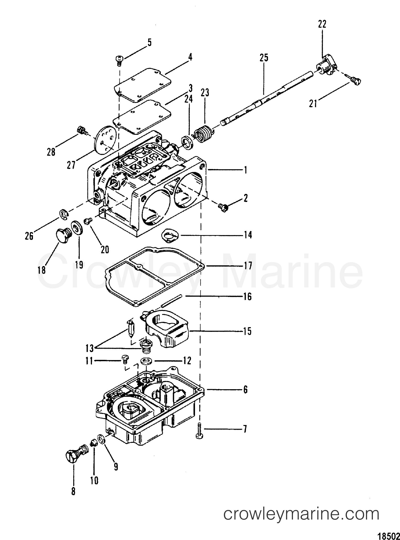 1989 Hors-bord Mariner 200 [CXL] - 7200425PD ASSEMBLAGE DE CARBURATEUR section