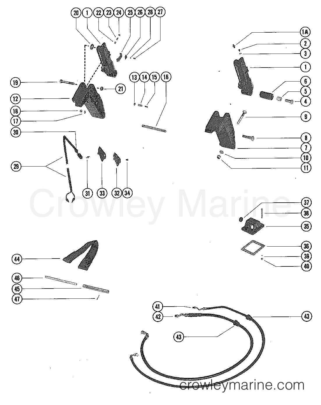 Diagram Of 1978 Mercury Marine Mercury Outboard 1090528 Power Trim