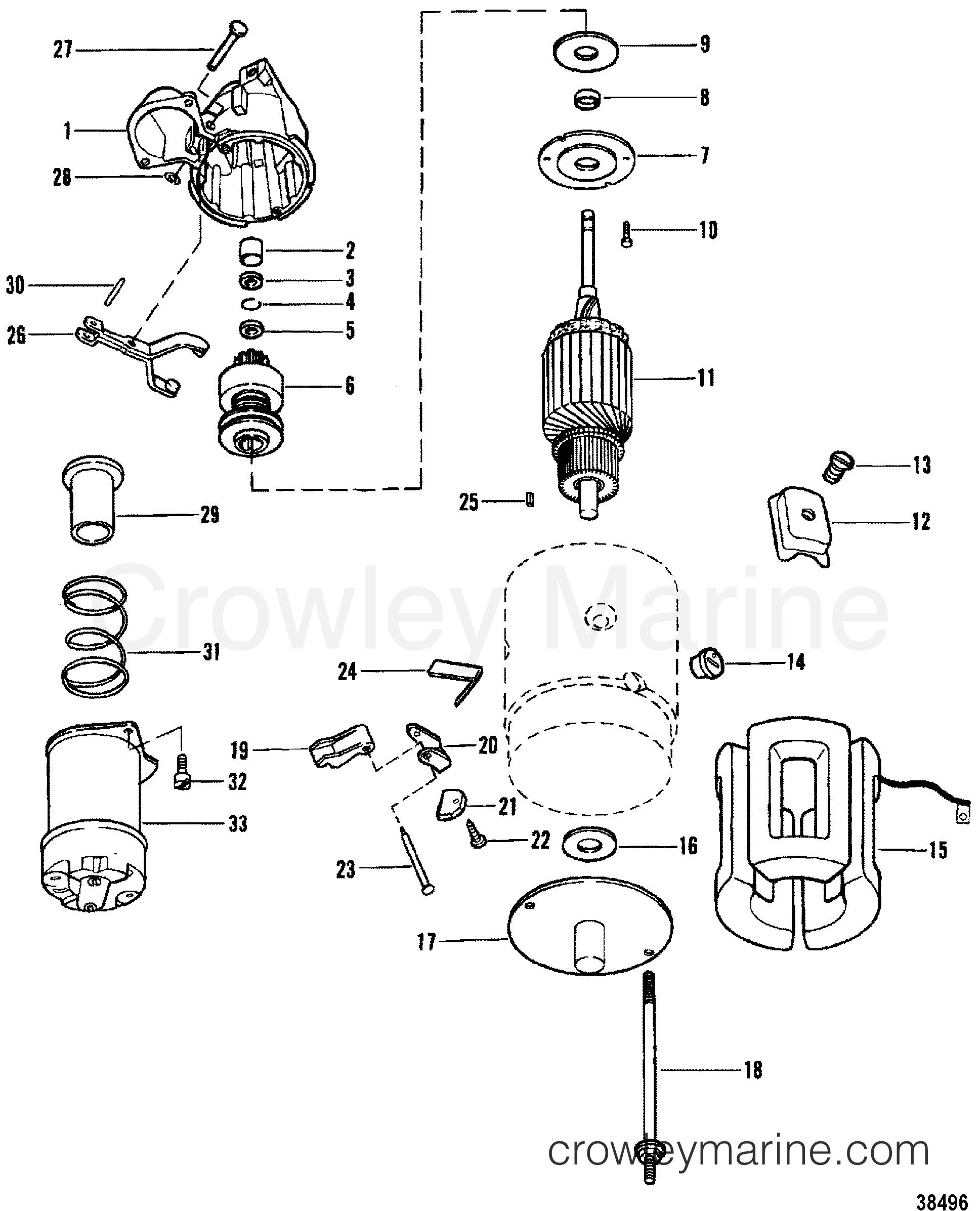 starter motor use with 14 flywheel serial range. Black Bedroom Furniture Sets. Home Design Ideas