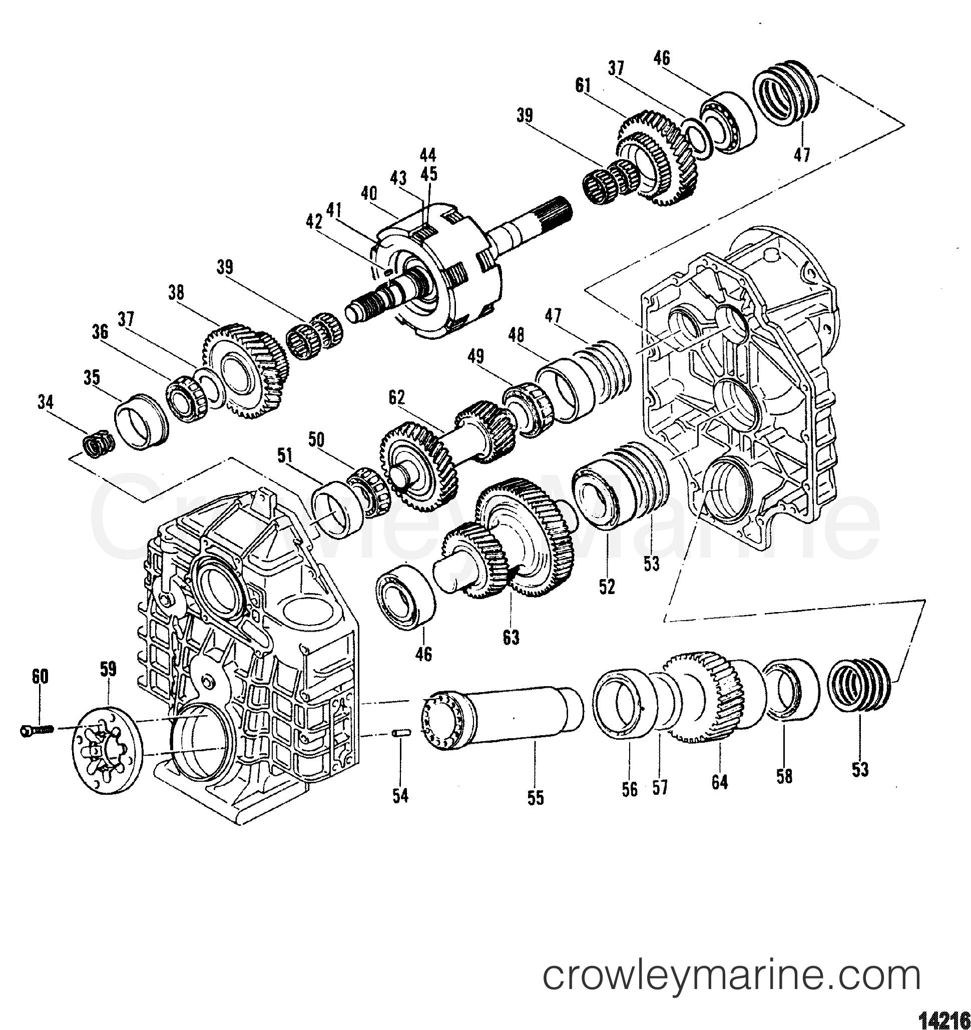 1995 Mercury Inboard Engine 7.4L [CARB] - 37435C6HS TRANSMISSION (V-DRIVE)(HURTH) (2 OF 2) section