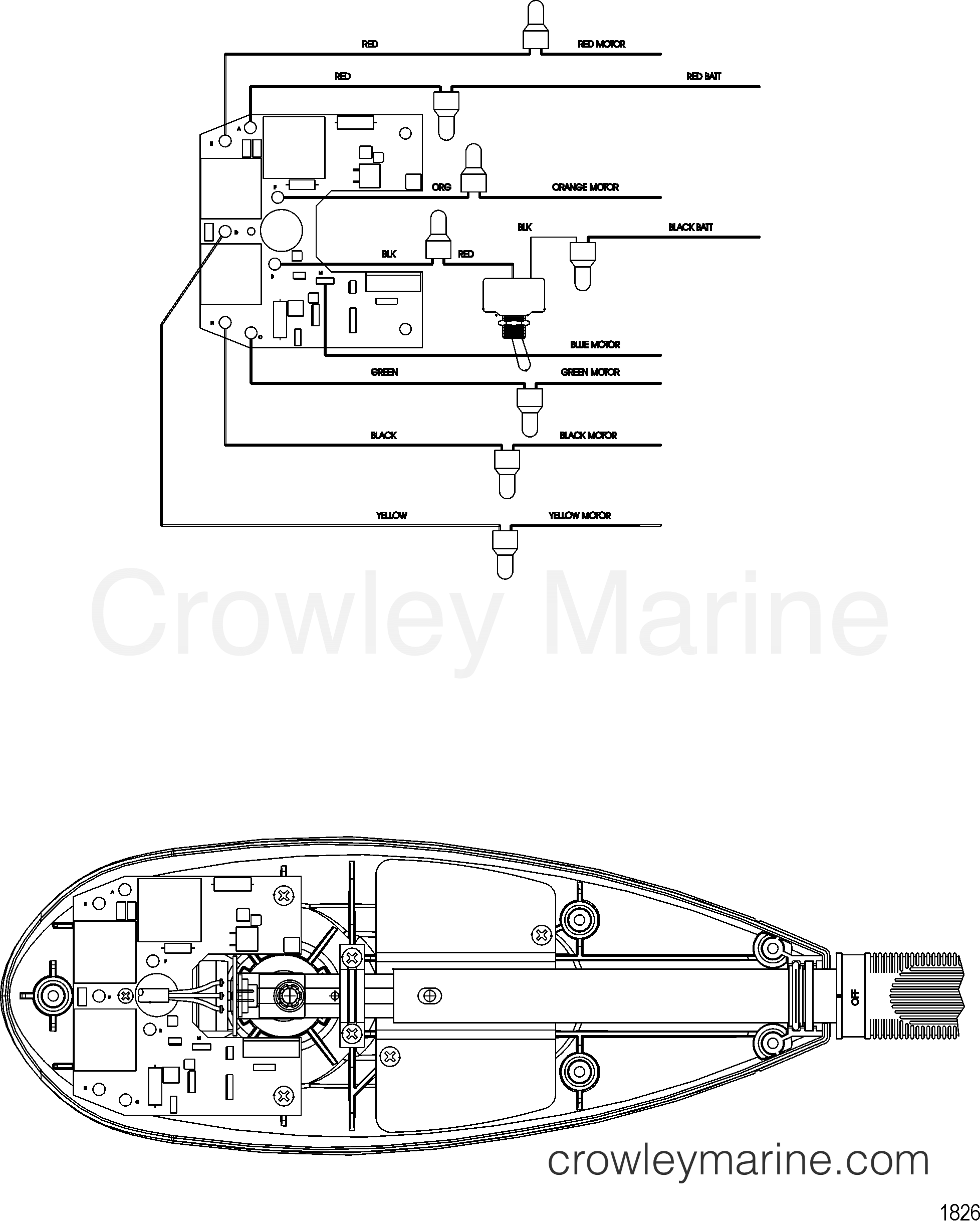 2004 MotorGuide 24V [MOTORGUIDE] - 9BU42FACF WIRE DIAGRAM(MODEL FW82HBV) section