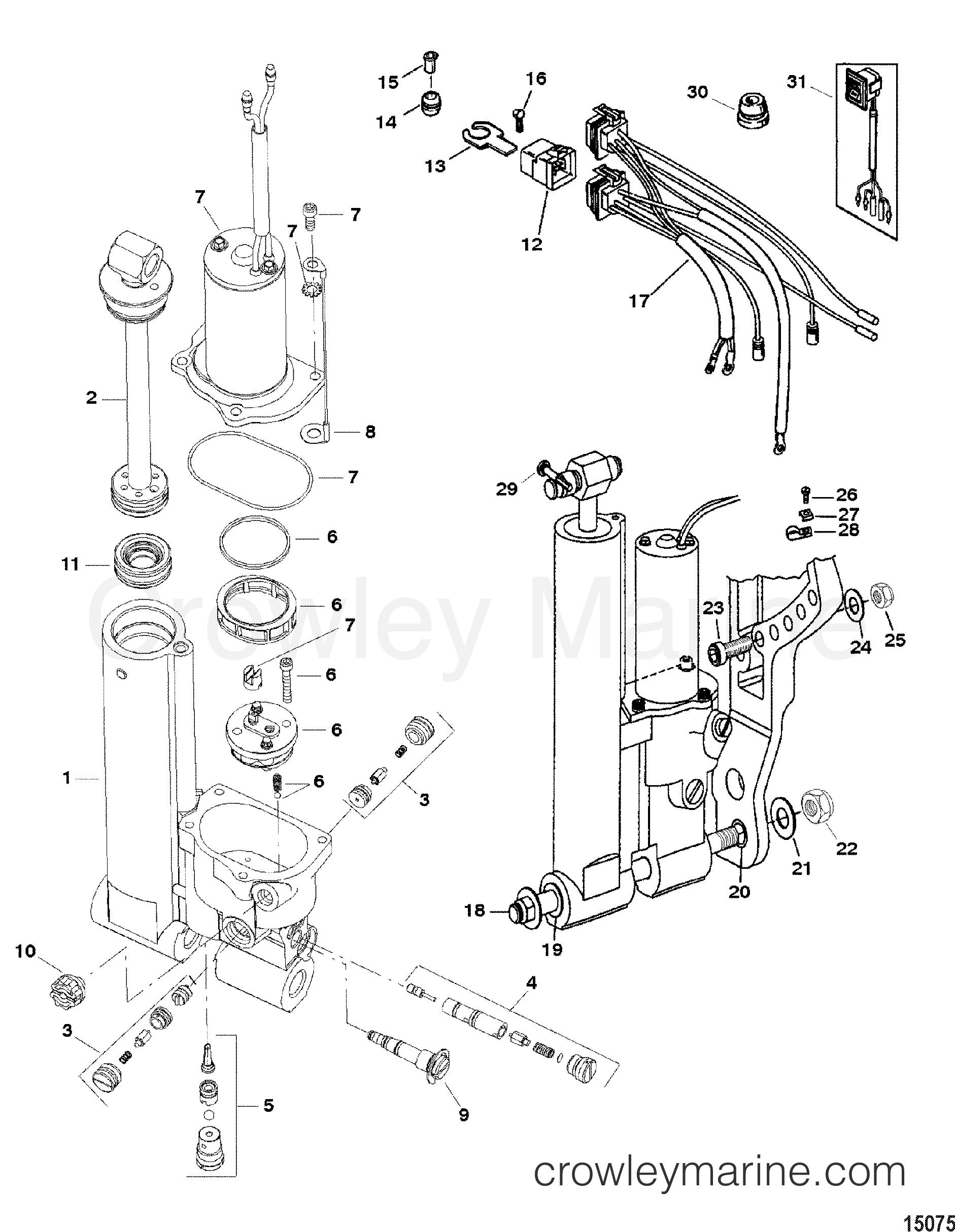 power trim and tilt kit 822344a6