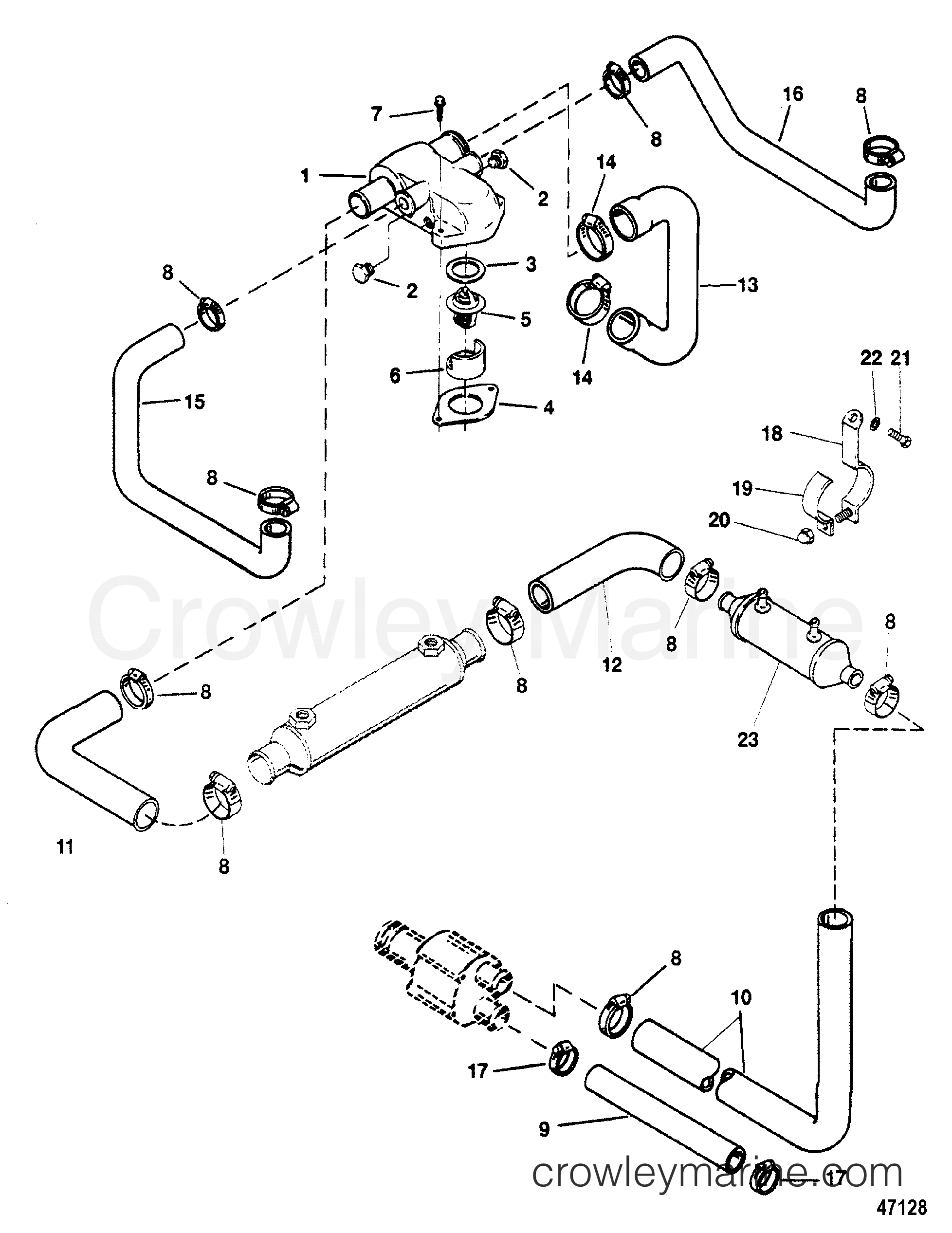 454 mercruiser engine diagram wiring library Rear End Suspension mercruiser 454 thermostat housing diagram diy enthusiasts wiring 454 mercruiser engine diagram mercruiser thermostat diagram