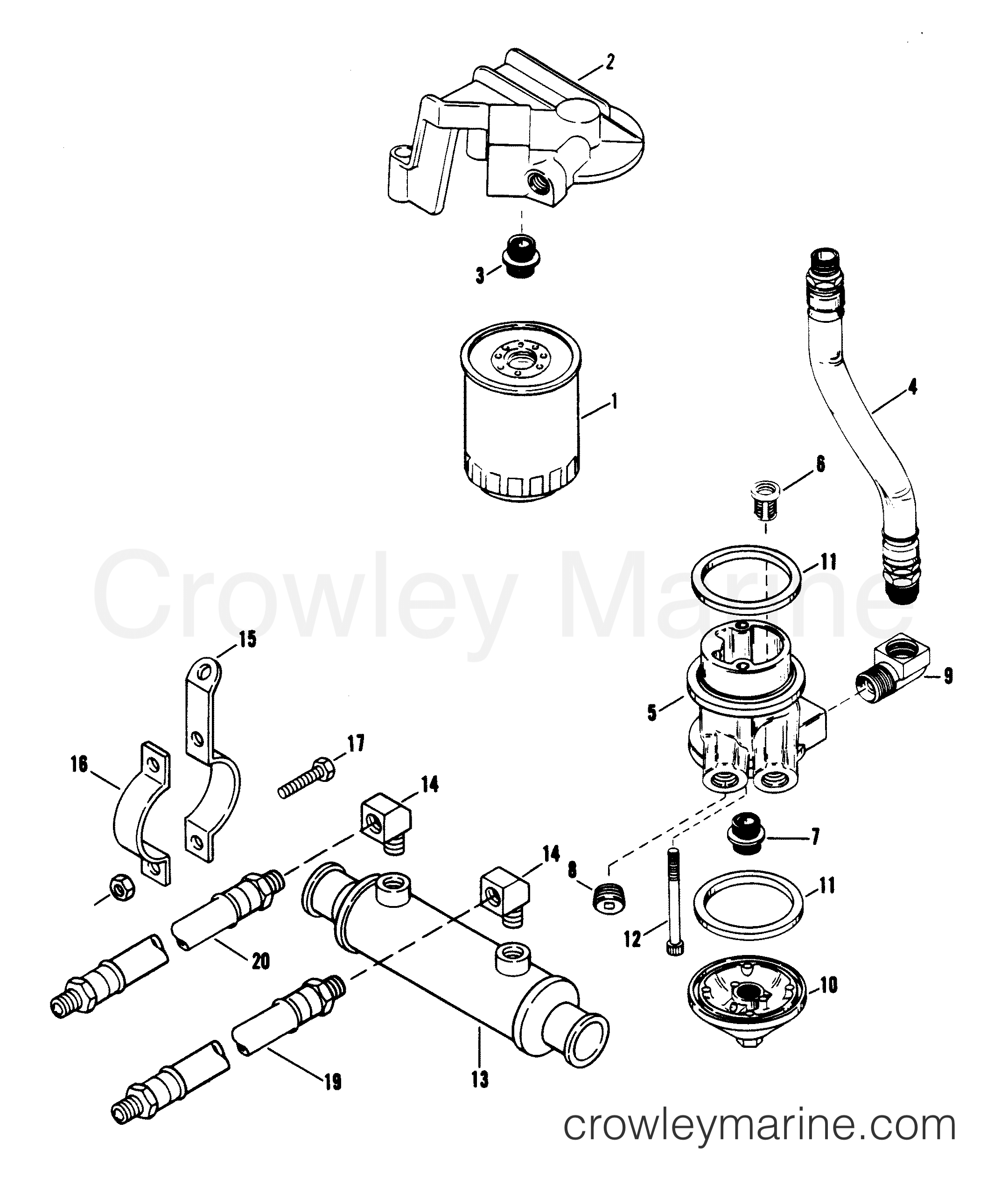 oil filter and adapter