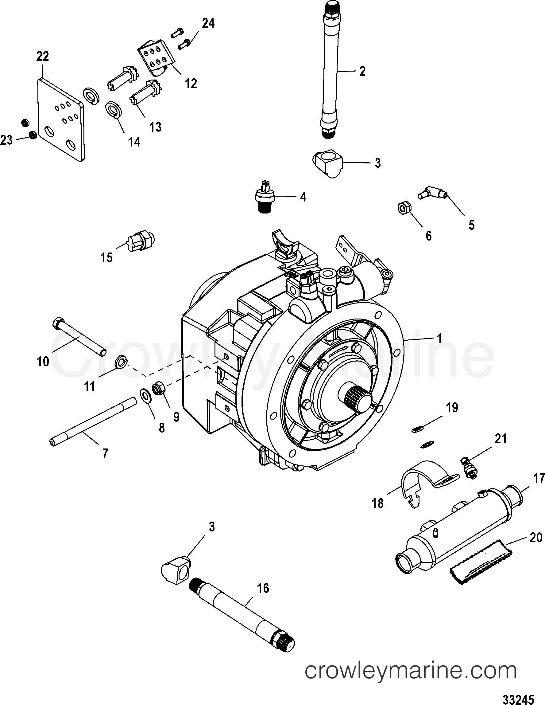TRANSMISSION AND RELATED PARTS(ZF - 45C) - 1998 Mercury Inboard