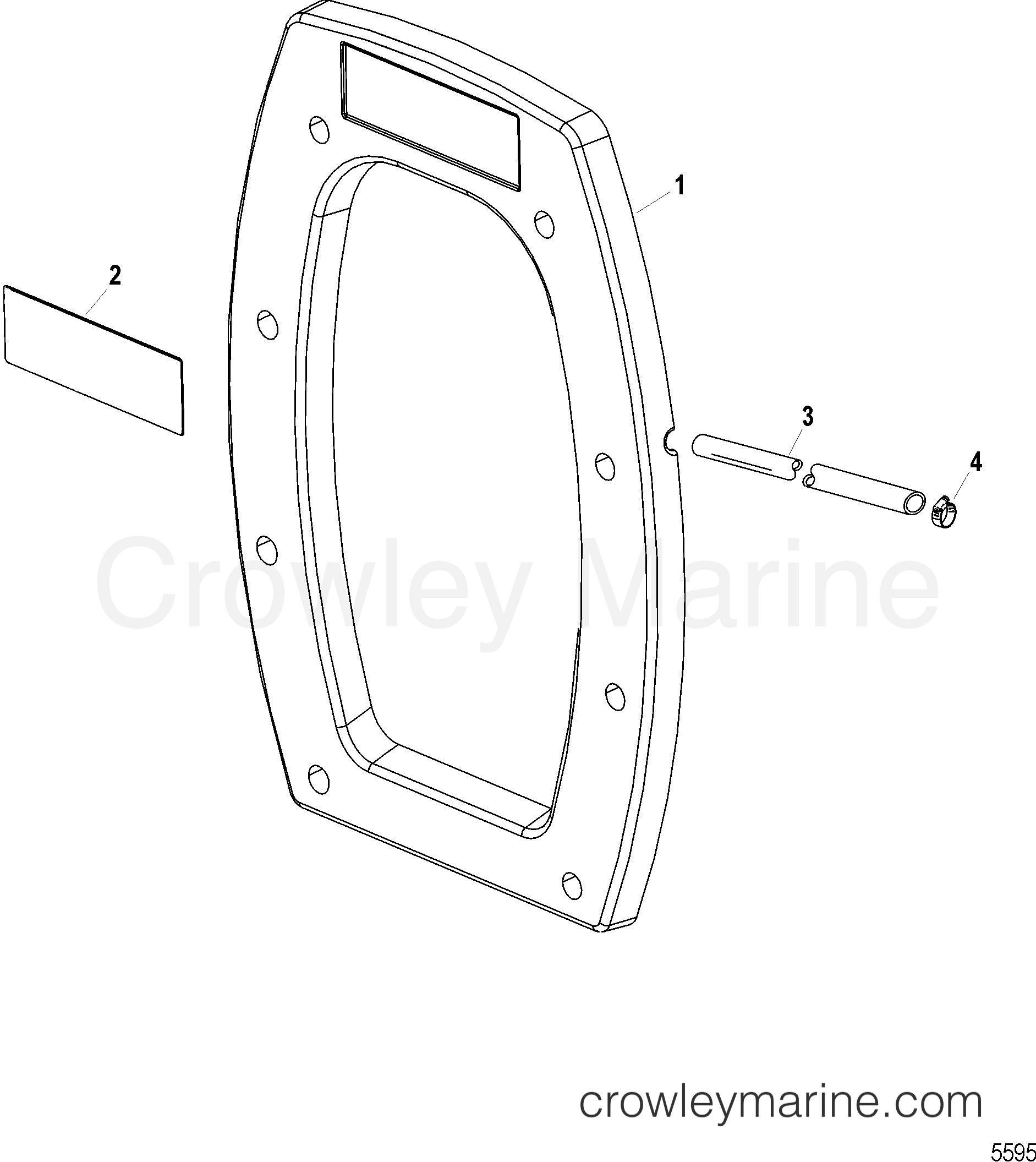 1993 Mercruiser Race Sterndrive SSM7 [1.217:1] - 5814217FH - INNER TRANSOM PLATE ASSEMBLY(DRY SUMP SIX) section