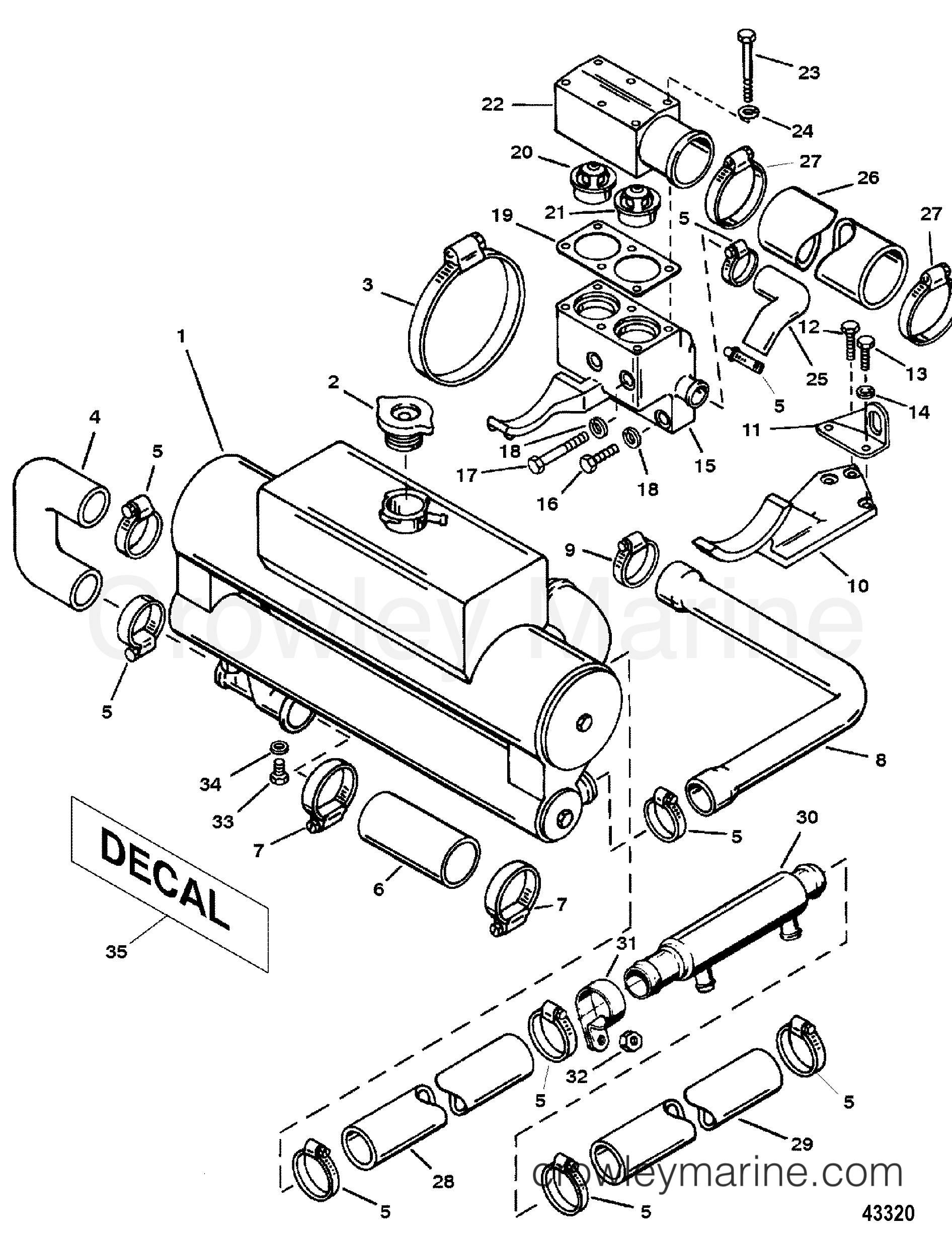 Excellent mercruiser engine diagram images best
