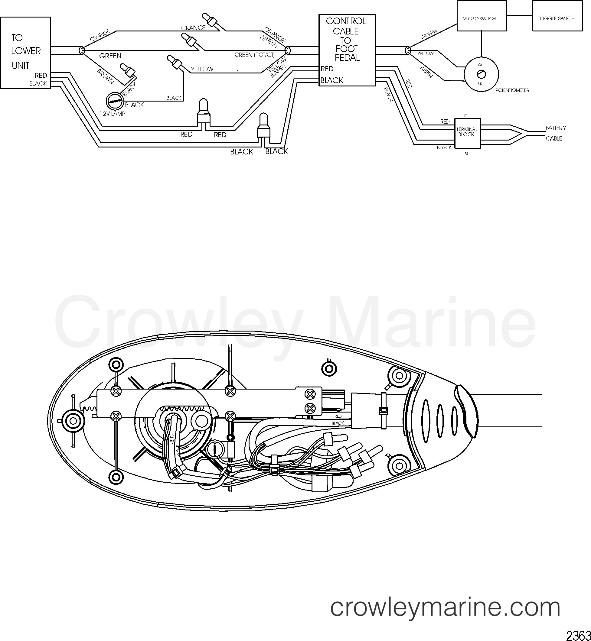 2005 MotorGuide 12V [MOTORGUIDE] - 921310040 WIRE DIAGRAM(MODEL FW71FBD) section