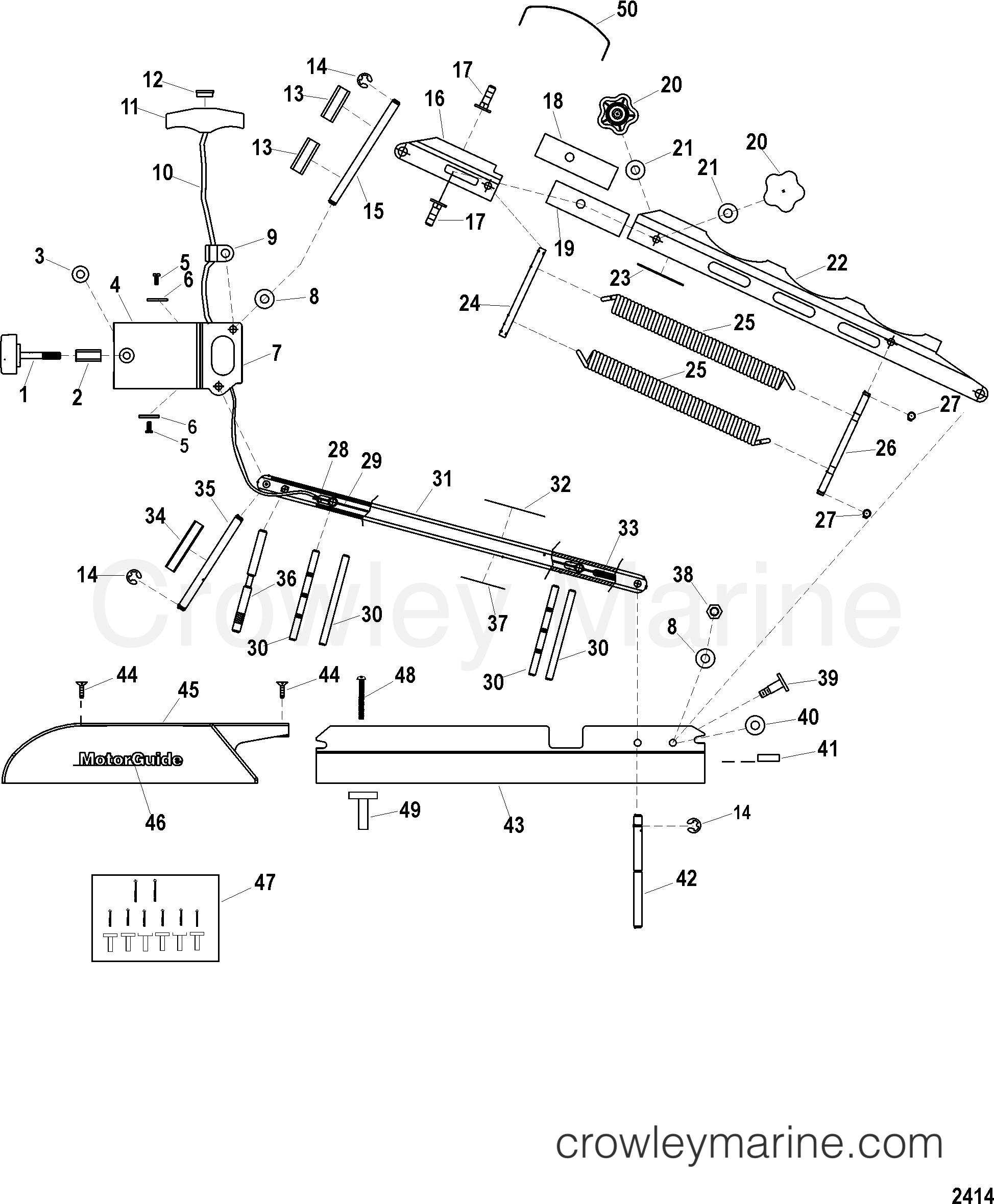 2005 MotorGuide 12V [MOTORGUIDE] - 921310040 - 21 BOW - GATOR II (BLACK)(MST921BH) (MST921BHW) section