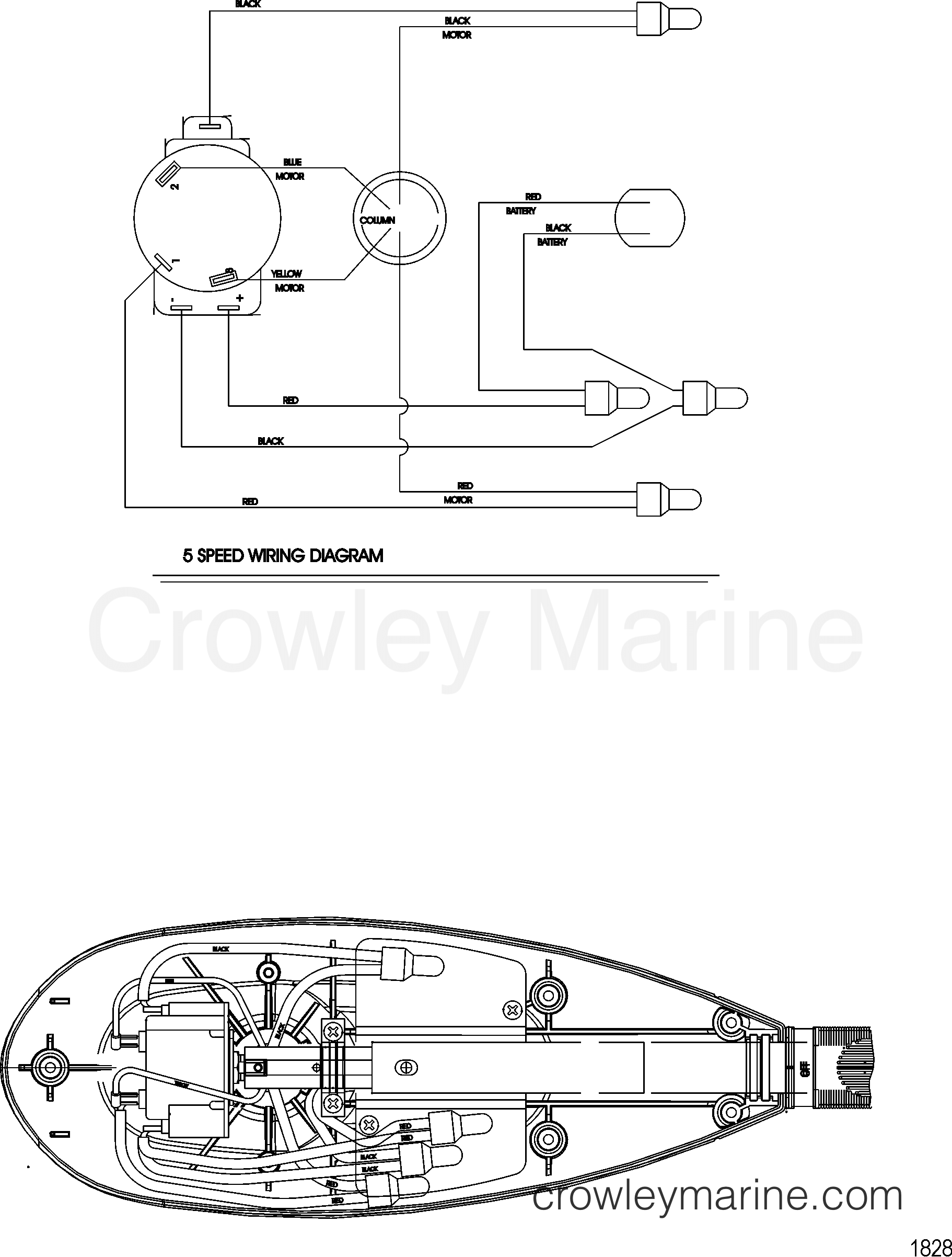 2005 MotorGuide 12V [MOTORGUIDE] - 921310040 WIRE DIAGRAM(MODEL FW54HP) (WITHOUT QUICK CONNECT) section