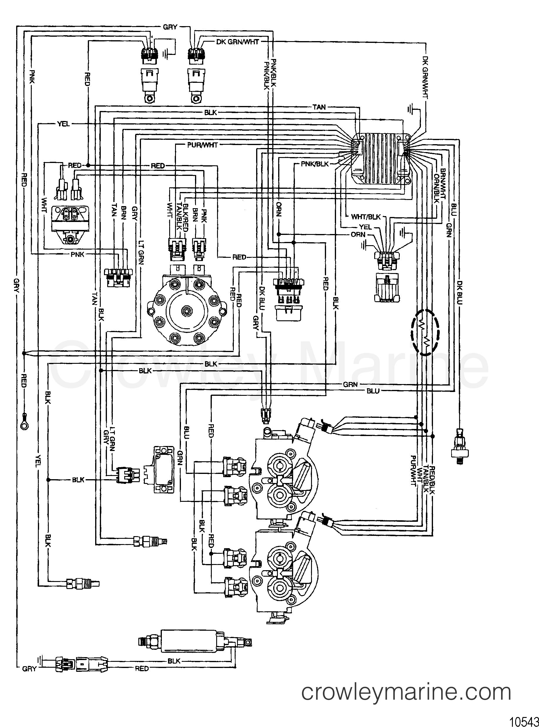 HARNESS ASSEMBLY(EFI WIRING) - 2003 Mercruiser Race Sterndrive 575 ...