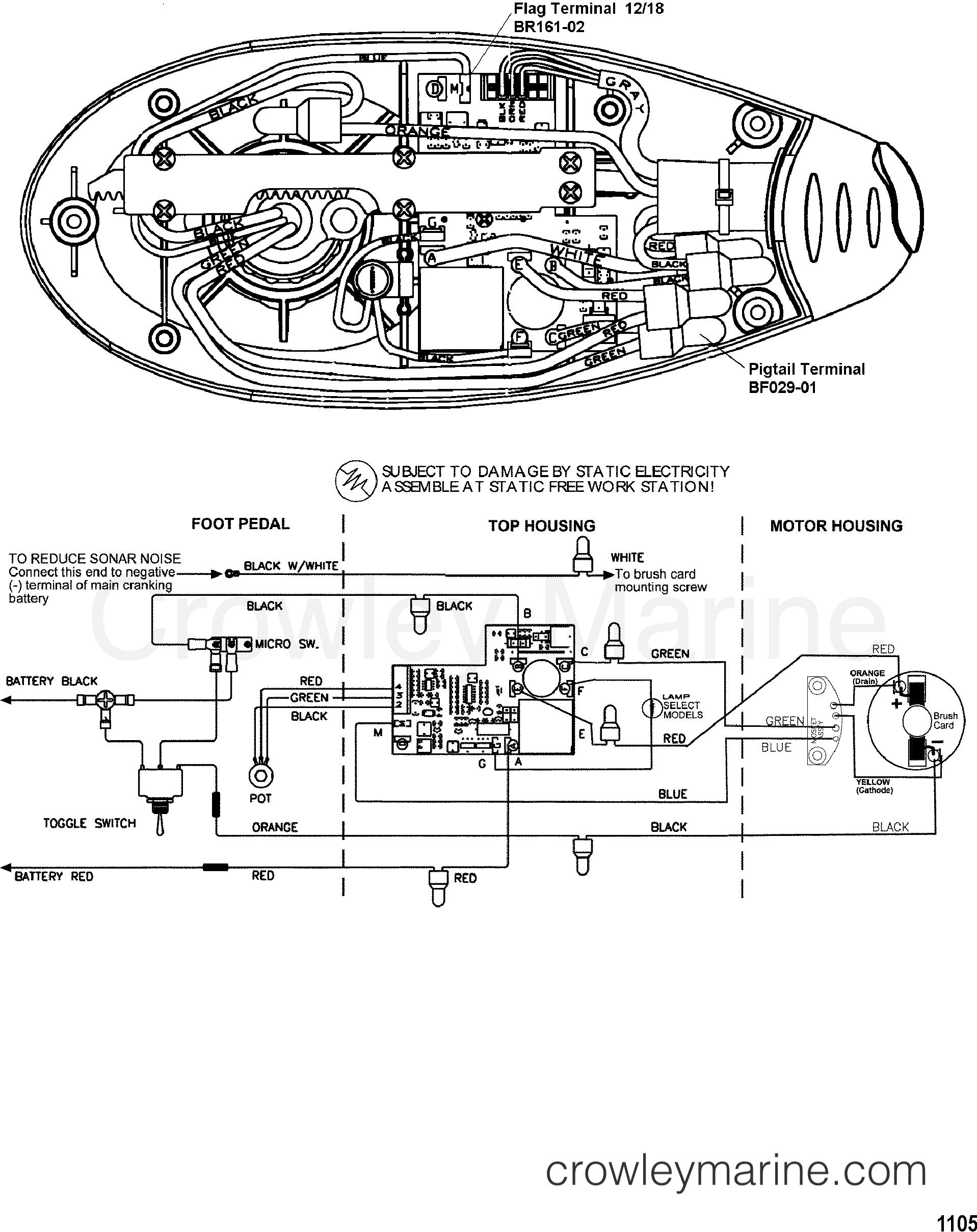 2002 MotorGuide 12V [MOTORGUIDE] - 9EF45BAZJ - WIRE DIAGRAM(MODEL EF54V) (12 VOLT)