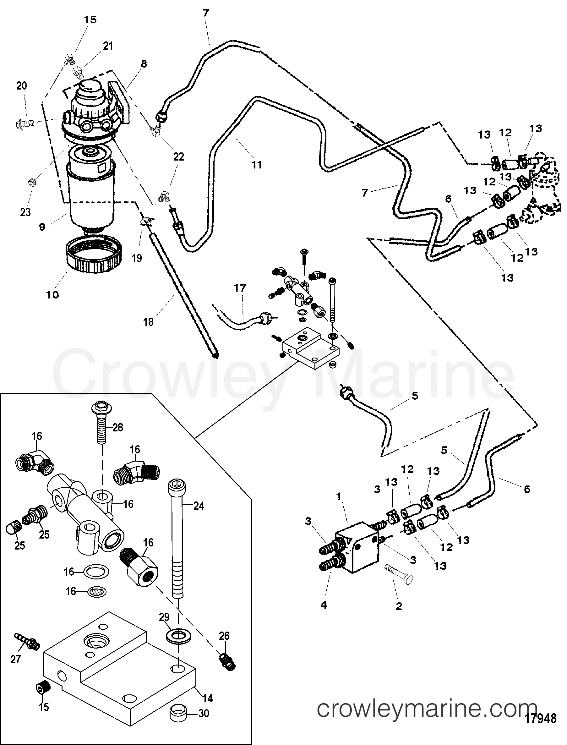 fuel filter and related parts