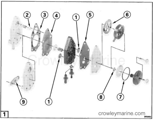 fuel pump repair kit crowley marine rh crowleymarine com evinrude fuel pump assembly diagram evinrude fuel pump parts