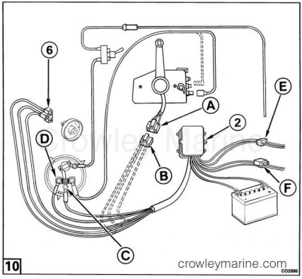 0584107_F4 power trim tilt motor and wire harness kit crowley marine
