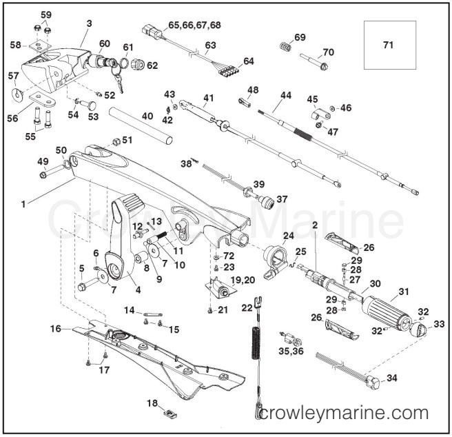 Tiller Handle Kit - Crowley Marine