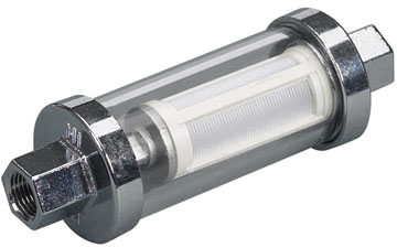Inline Glass View Fuel Filter