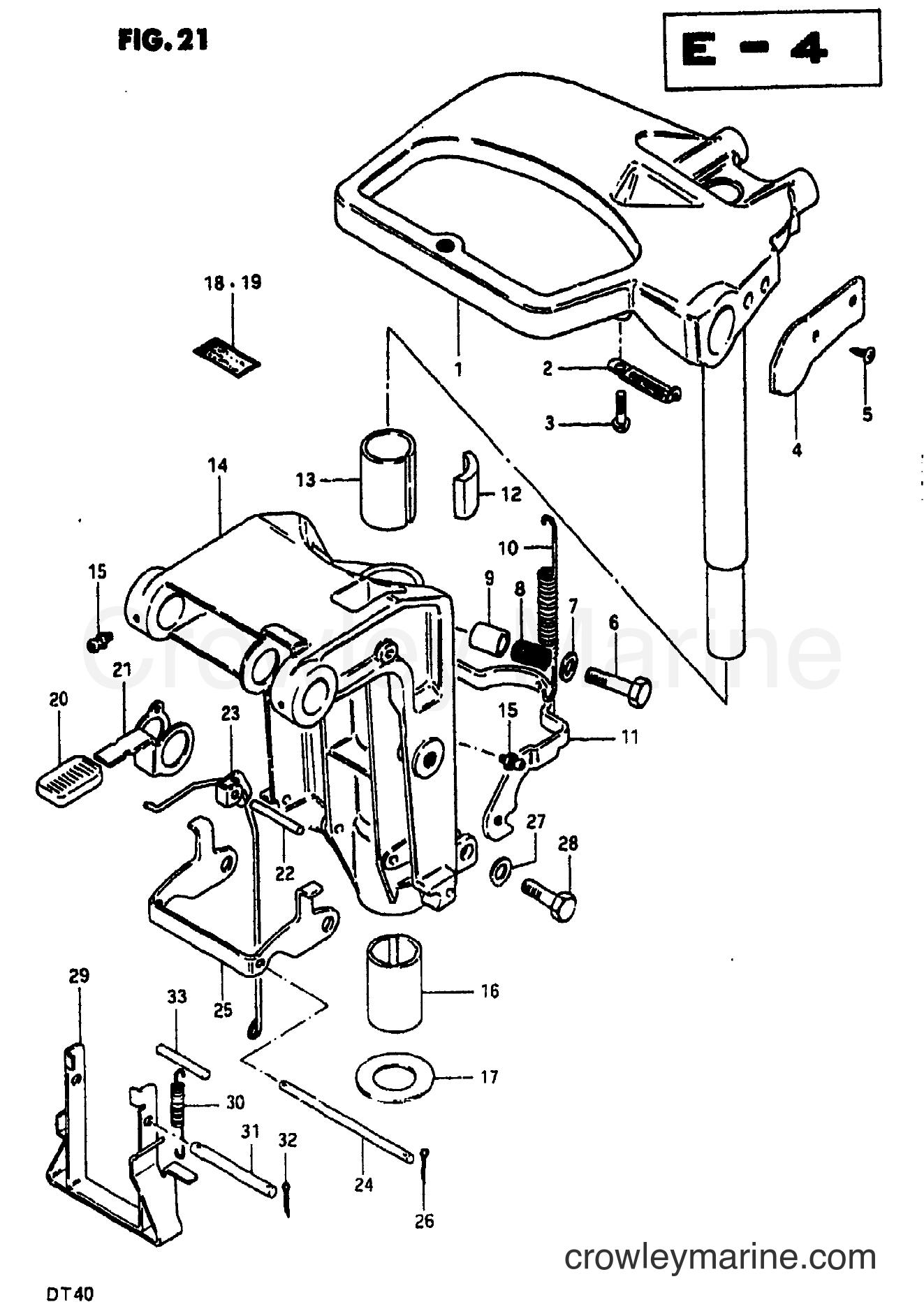 1981 Two-Stroke 35 - DT35 - SWIVEL BRACKET
