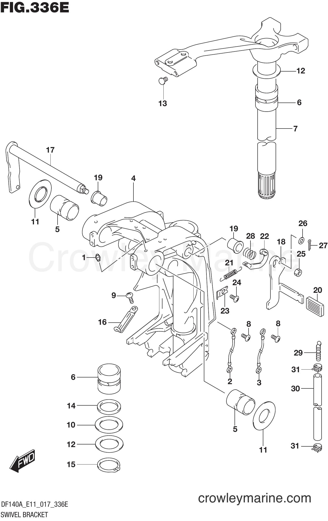 Suzuki  Outboard  Port Tilt Lock Lever 41221-95E40