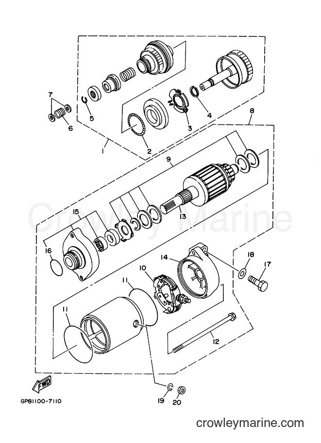 2003 Components JET FOR XA1200 - JET FOR XA1200 (68NE) [02A] - STARTING MOTOR