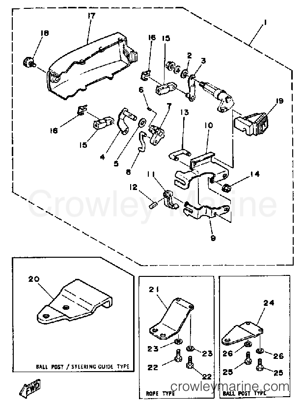 Diagram Of 1988 30elg Yamaha Outboard Control Engine Diagram And