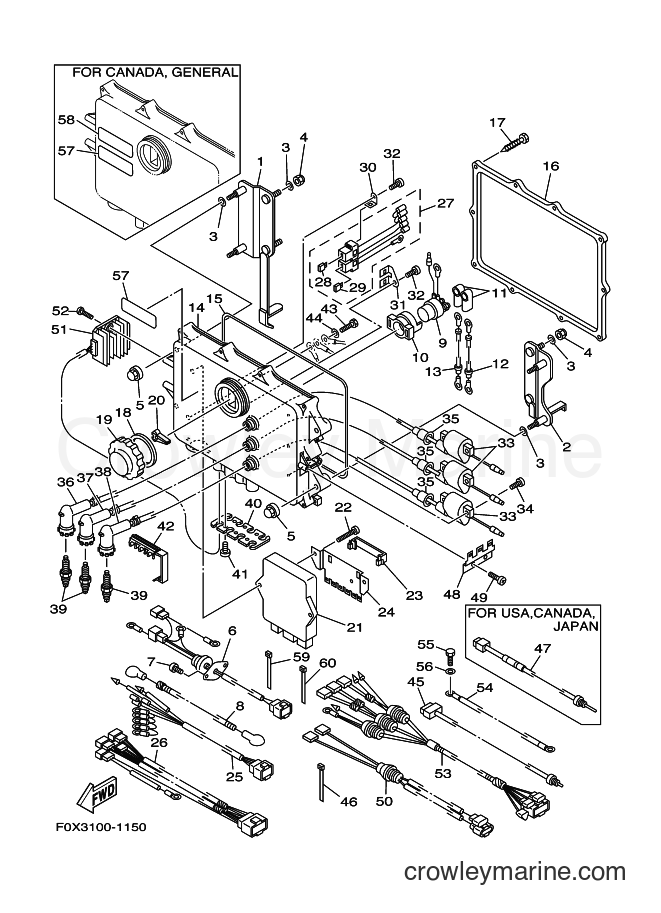 2001 WaveRunner GP1200A-Z - GP1200A-Z (F0X3) [02A] - ELECTRICAL 1