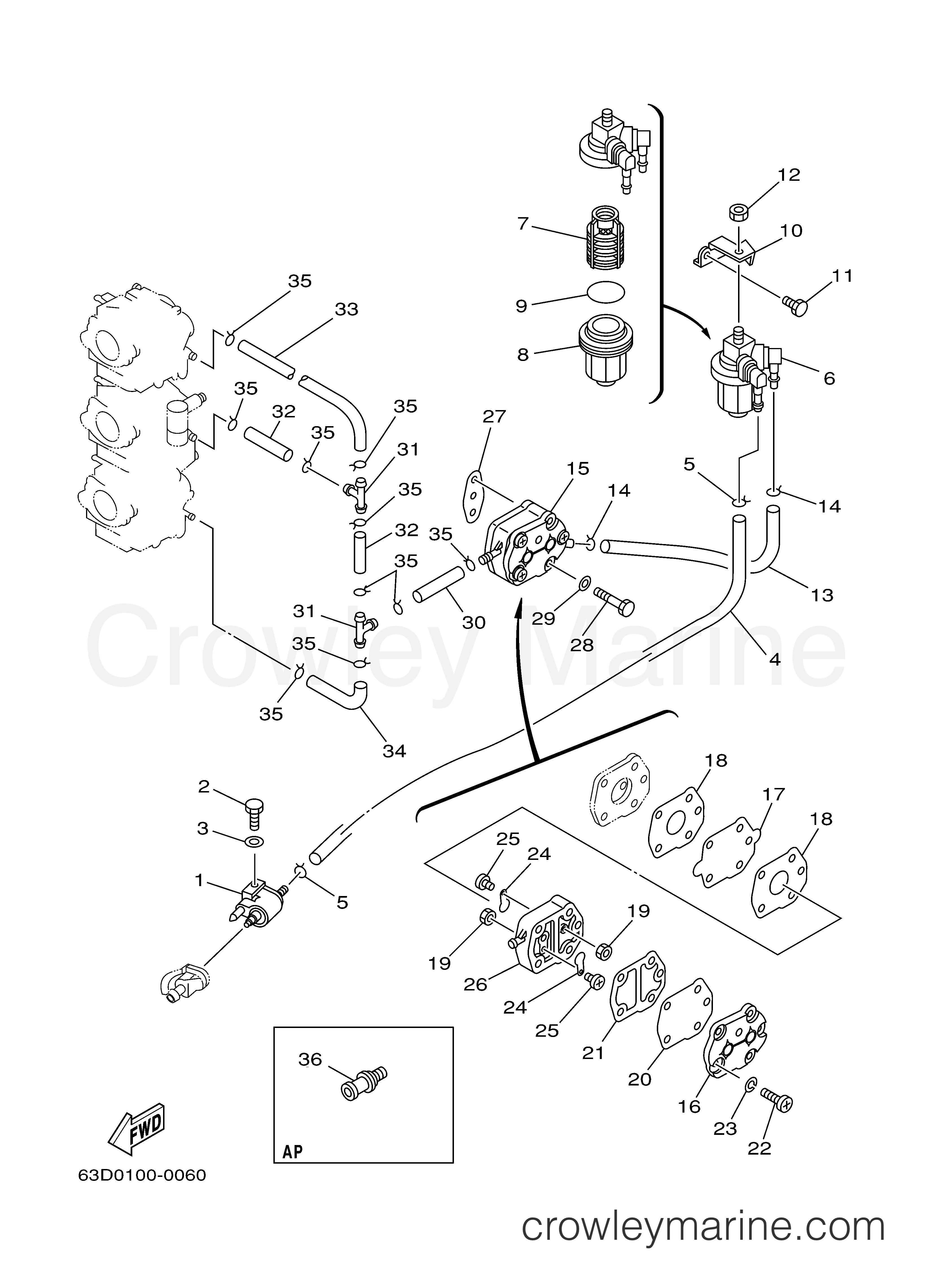 FUEL - 2001 Yamaha Outboard 40hp C40TLRZ | Crowley Marine Marine Hp Wiring Diagrams on hp power supply diagram, hp cable diagram, hp parts diagram, hp computer diagram, hp networking diagram, hp piping diagram, hp panel diagram, hp battery diagram, hp hardware diagram,