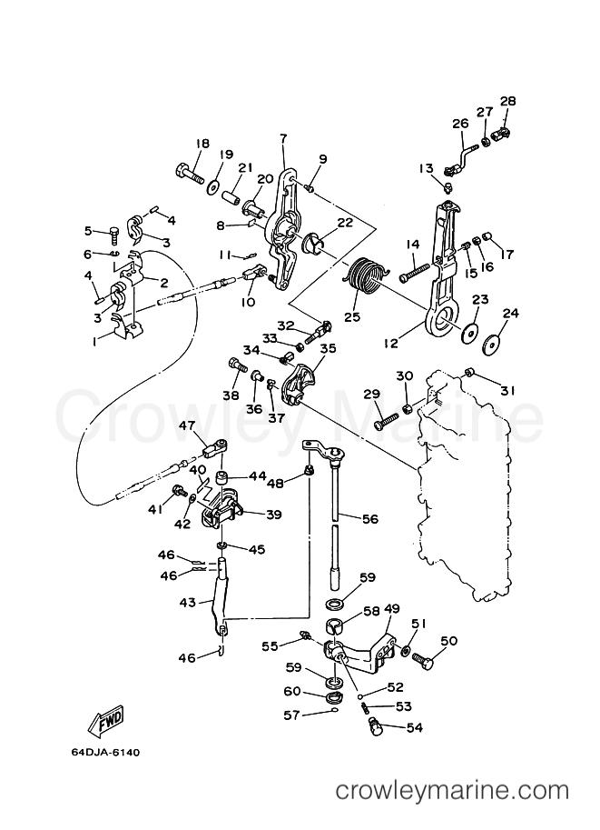 1999 Yamaha International 200hp - 200F (64E) [999] コントロール section