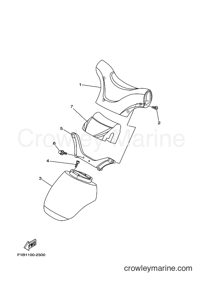 2004 Watercraft JF1000A - JF1000A (6B6C) [01A] - STEERING 2