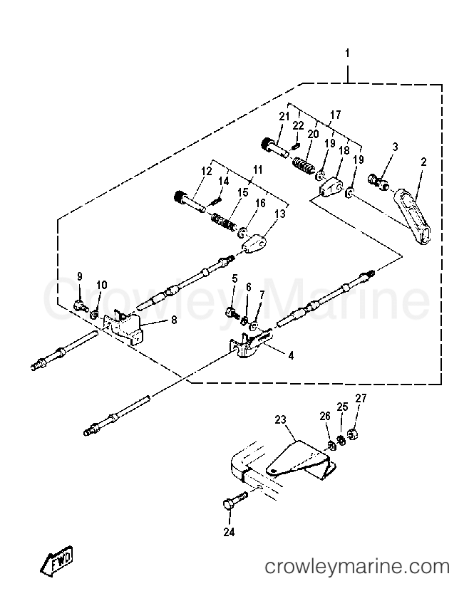 Diagram Of 1992 C40elrq Yamaha Outboard Control Engine Diagram And