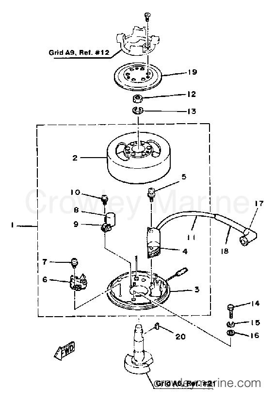 1985 Yamaha Outboard 2hp 2sk Flywheel Mago Section: Yamaha 2hp Outboard Parts Diagram At Daniellemon.com
