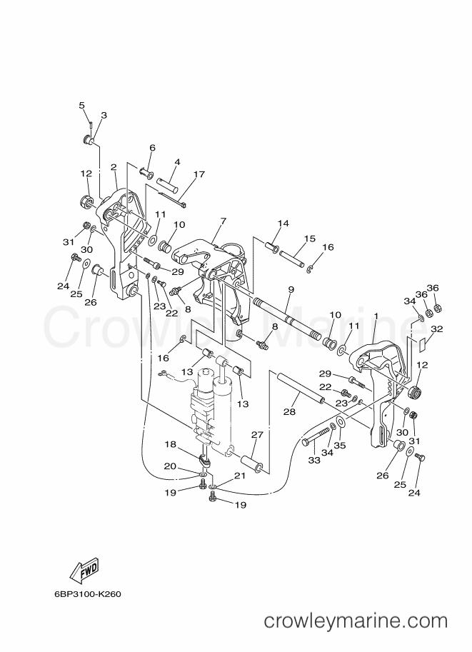 2013 Yamaha International 25hp - F25LEA-2013 (6BP6) [520] BRACKET 1 section