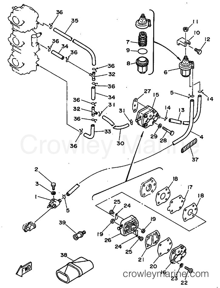 1999 Yamaha International 60hp - 60FEDO (6H2) [120] FUEL 1 section