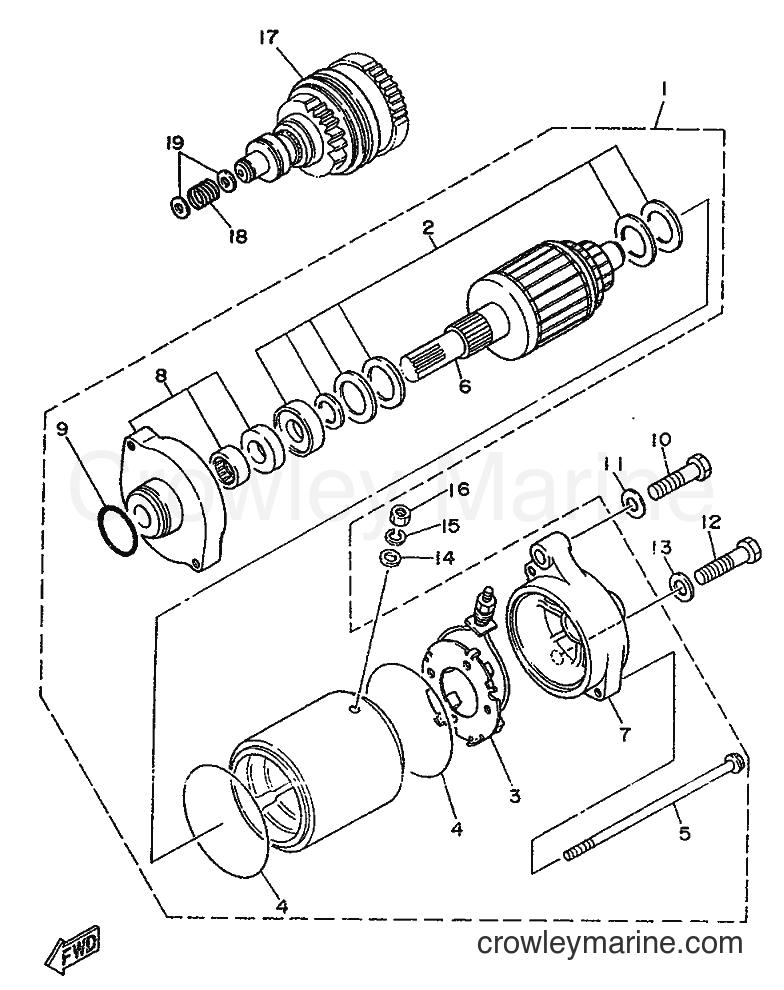 1989 WaveRunner WR650 - WR650 (FK7) [999] - STARTING MOTOR