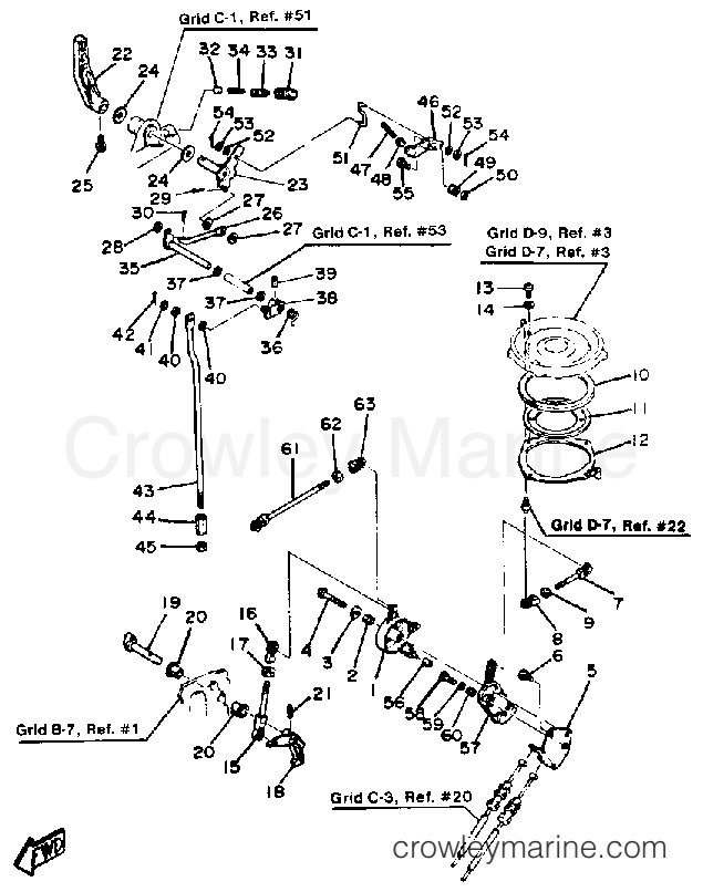 1987 Yamaha Outboard 25hp 25esh Control Engine Section: Yamaha 50 Engine Diagram At Hrqsolutions.co