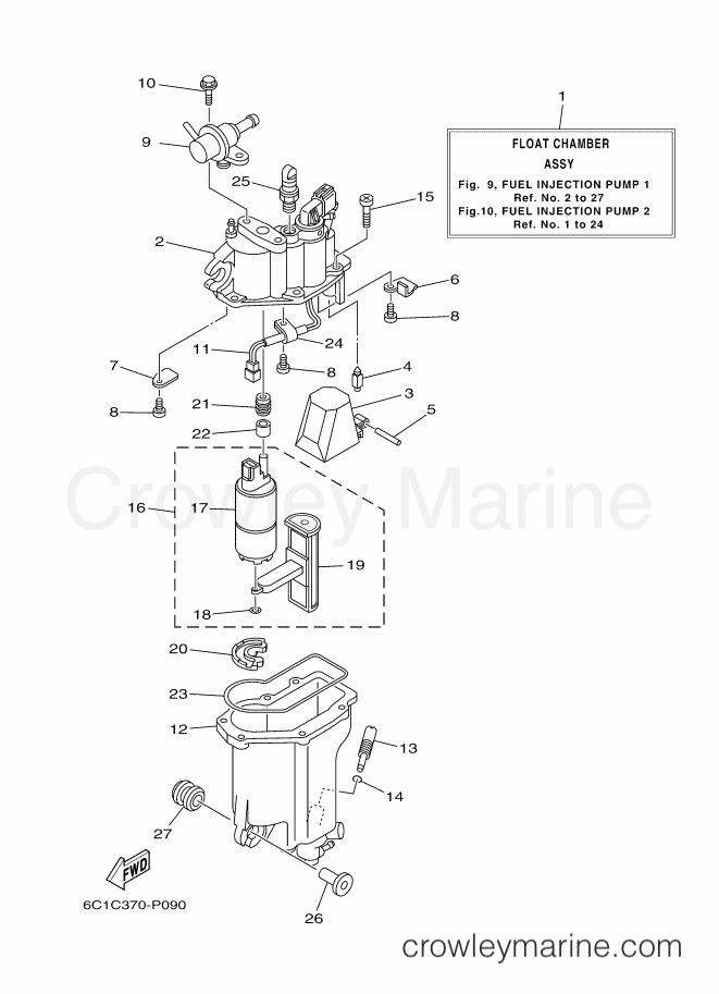 2013 Yamaha International 60hp - T60LB-2013 (6C6A) [280] - FUEL INJECTION PUMP 1 section
