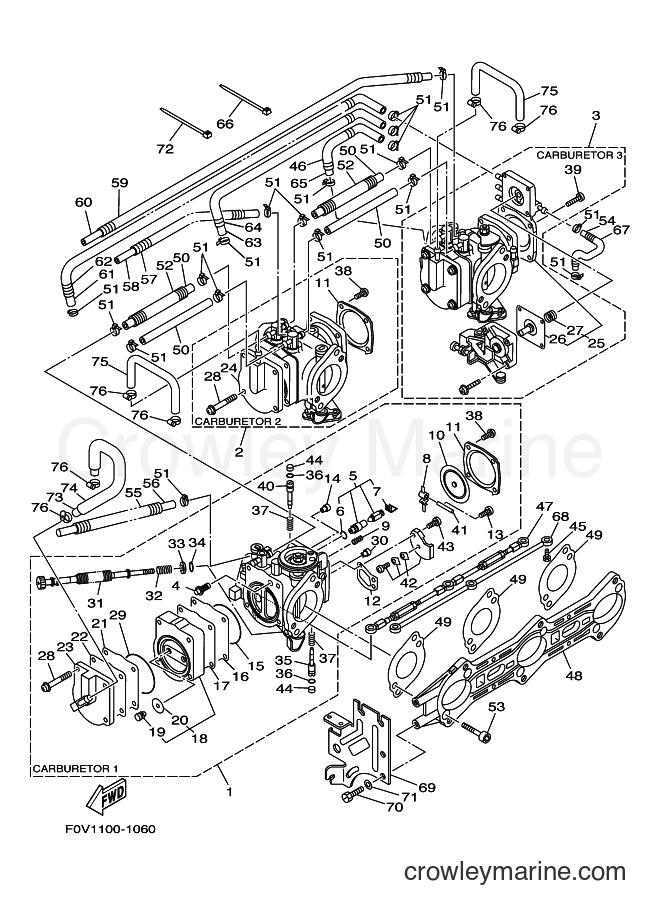 2003 Components JET FOR XA1200 - JET FOR XA1200 (68NE) [02A] - CARBURETOR 2