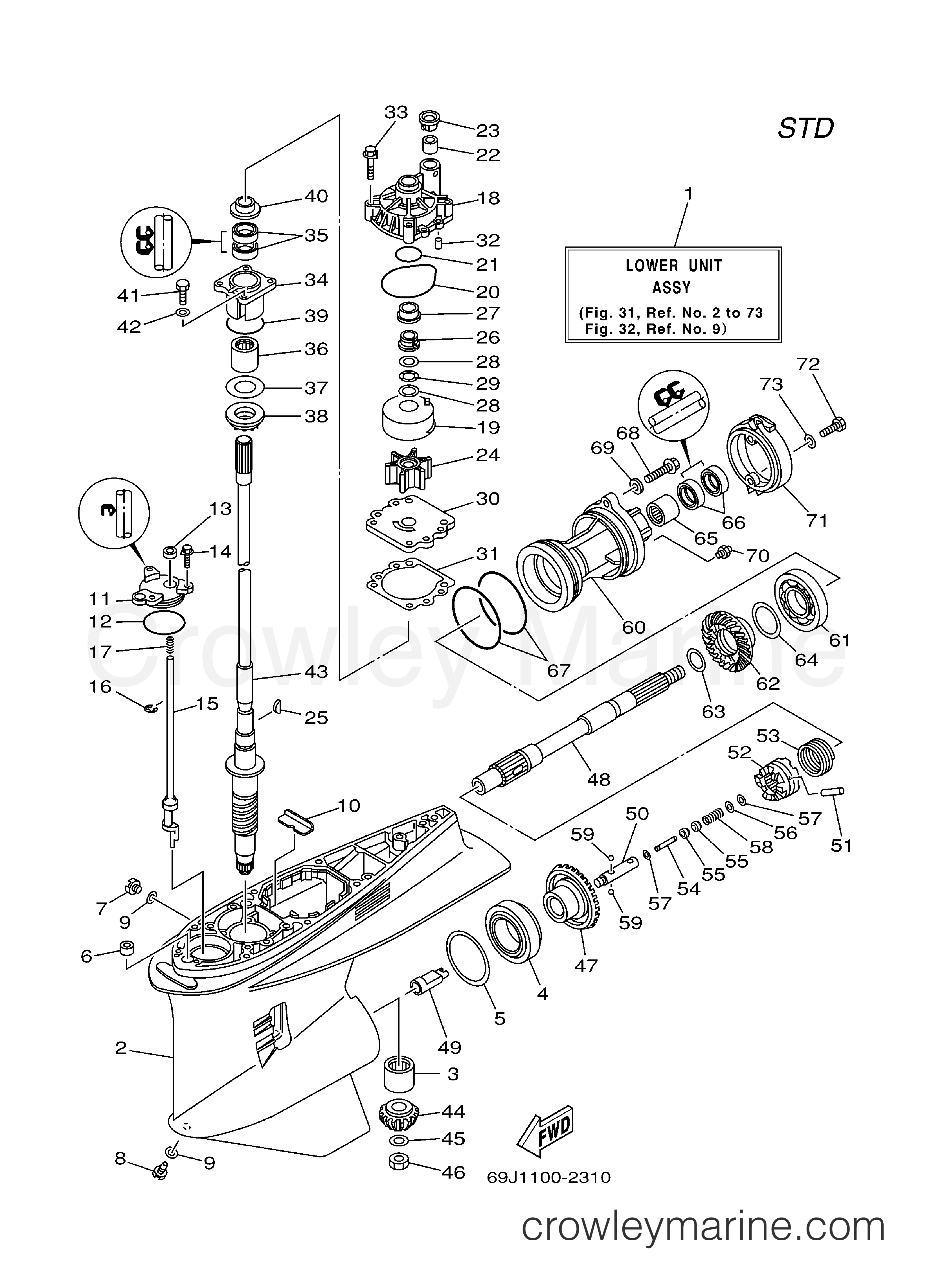 Clxvplkg on Outboard Engine Lower Unit Diagram