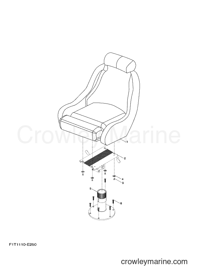 2009 Watercraft FAT1100A-H - FAT1100A-H (F2G3) [020] - SWIVEL SEAT