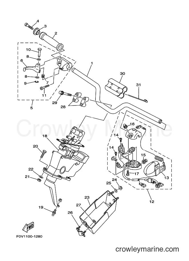 2001 WaveRunner XA1200A-Z - XA1200A-Z (F0V1) [030] - STEERING 1