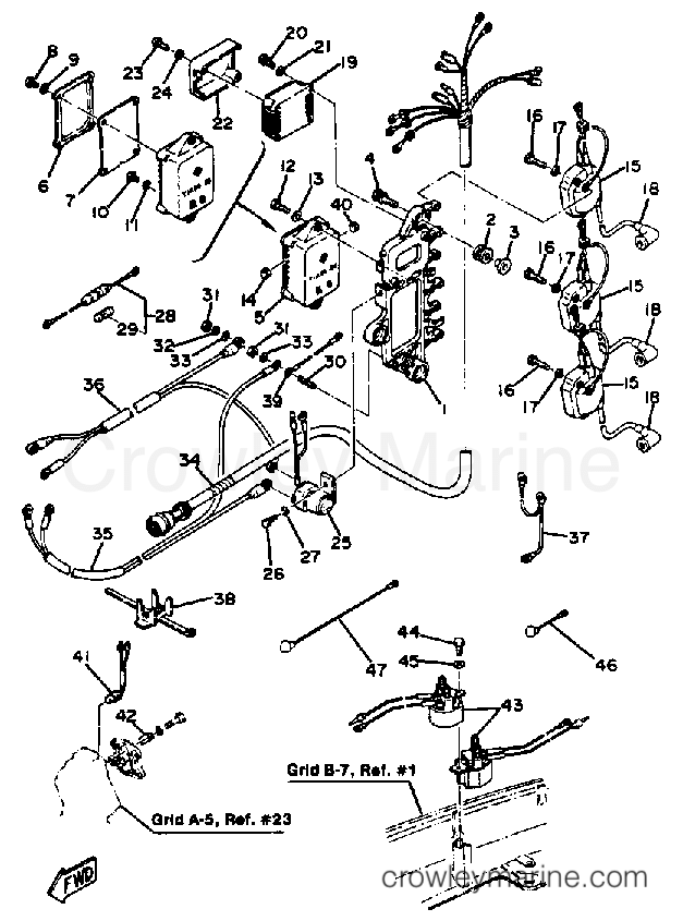 Bulletinkoli Yamaha Outboard Wiring Harness Diagram