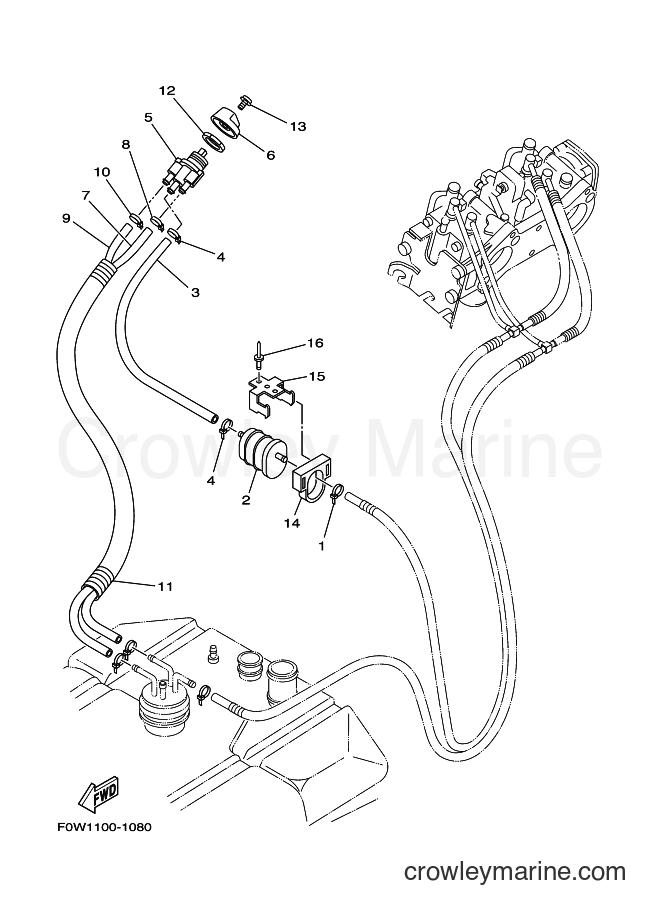 2001 WaveRunner GP800A-Z - GP800A-Z (F0W1) [030] - FUEL