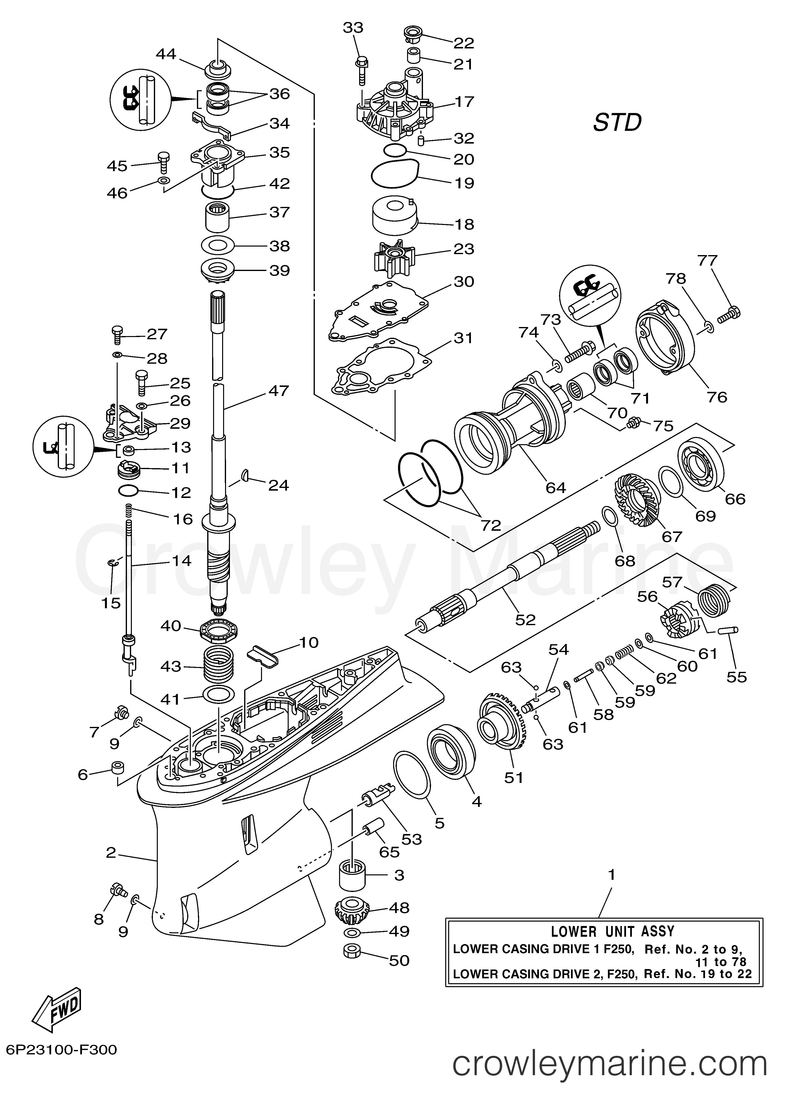 Yamaha OEM Part 6P2-45551-01-00