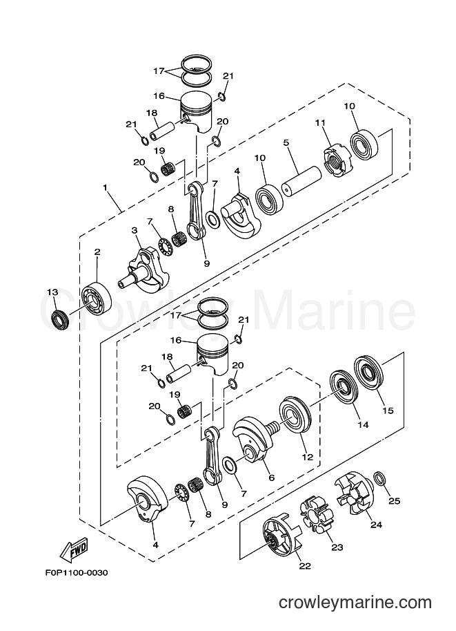 2001 WaveRunner GP800A-Z - GP800A-Z (F0W1) [02A] - CRANKSHAFT & PISTON