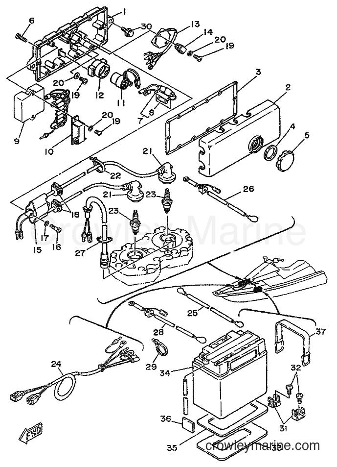 1989 WaveRunner WR650 - WR650 (FK7) [999] - ELECTRICAL 1