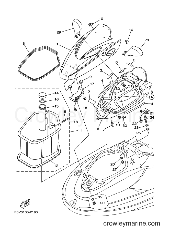 2003 Components JET FOR XA1200 - JET FOR XA1200 (68NE) [02A] - ENGINE HATCH 2