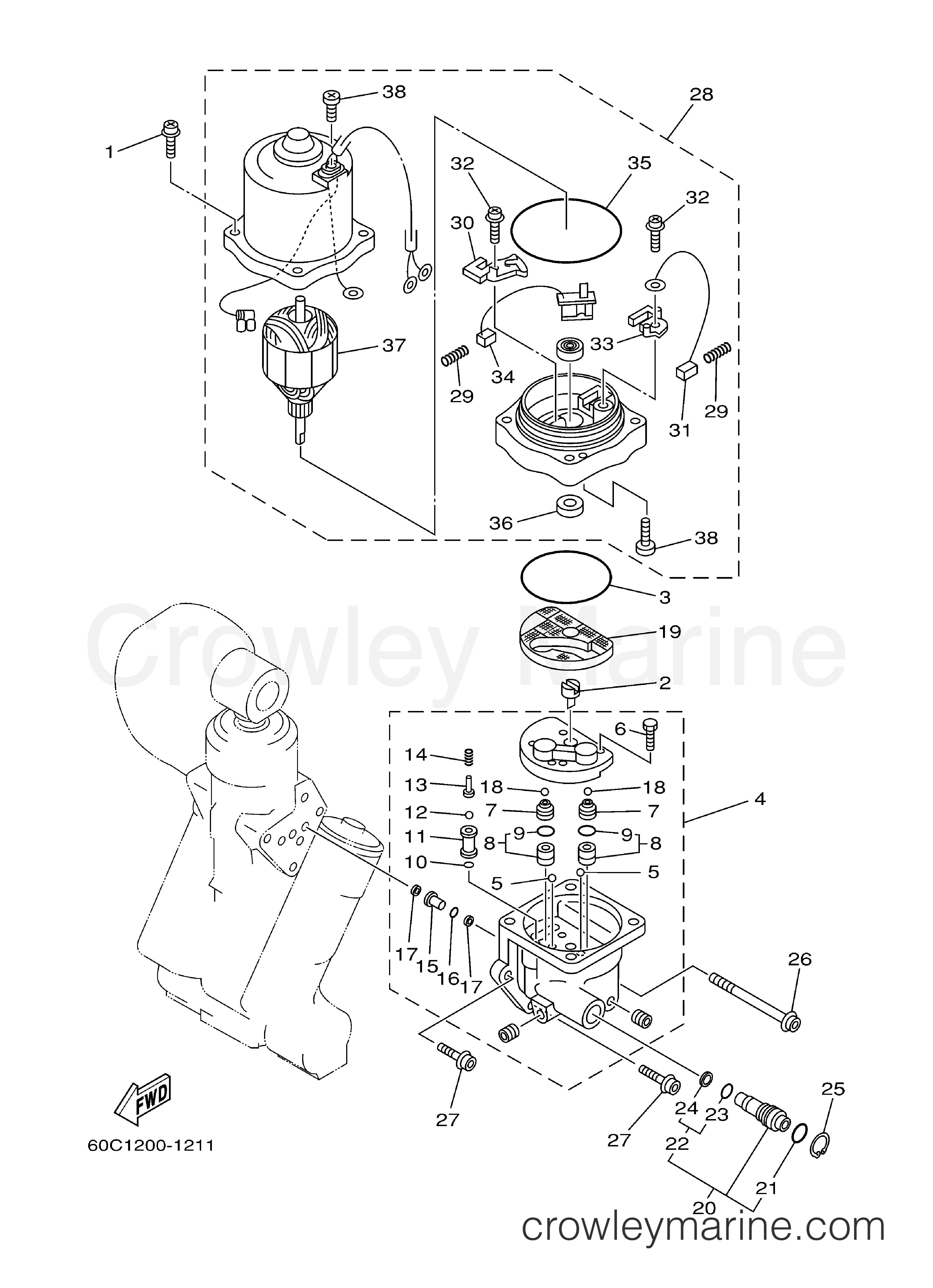power trim tilt assy 2