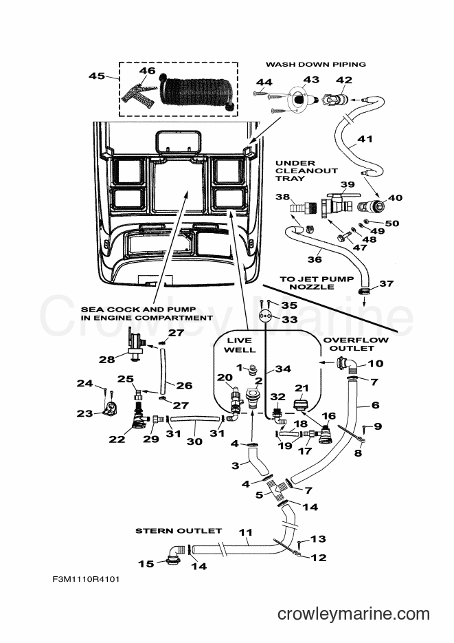 2017 WaveRunner SH1800B-S - SH1800B-S (F3M5) [020] - LIVE WELL & PIPING